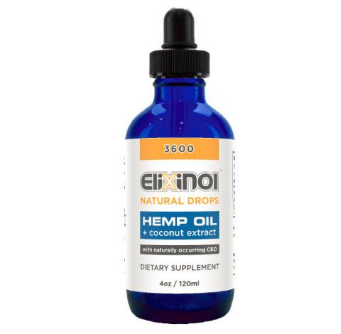 Elixinol CBD Tincture Hemp Oil Drops 3600mg