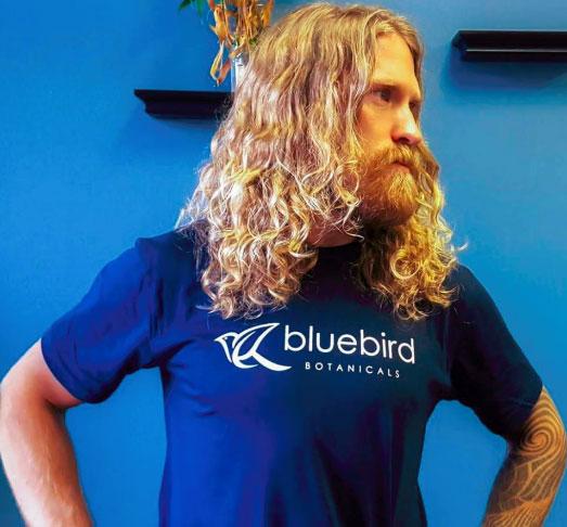 bluebird botanicals tee shirt