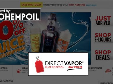 Direct Vapor homepage screenshot