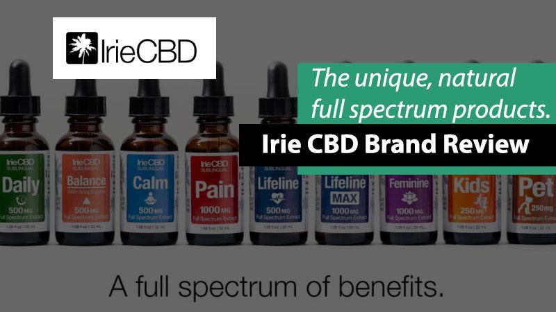 Irie CBD products