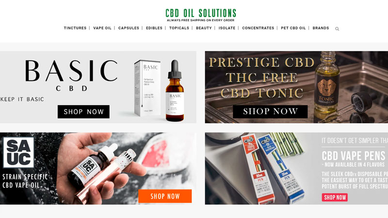 CBD-Oil.Solutions homepage