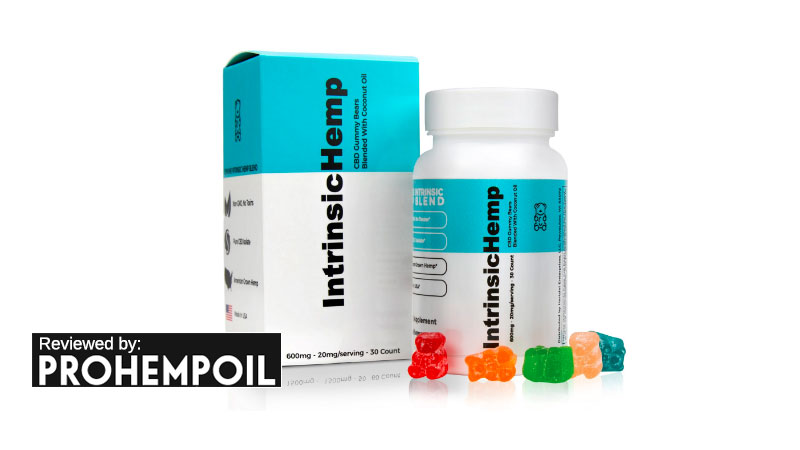 hemp gummy bears by Intrinsic Hemp