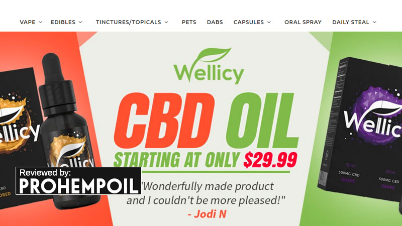 Wellicy branded CBD products