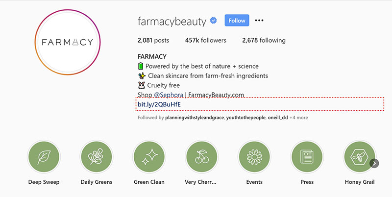 farmacy beauty Instagram Profile